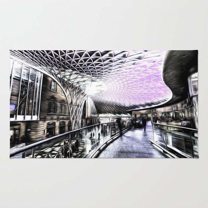 Kings Cross Station Art Rug