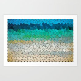 SEA MOSAIC Art Print