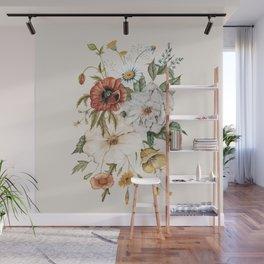 Wildflower Bouquet Wall Mural