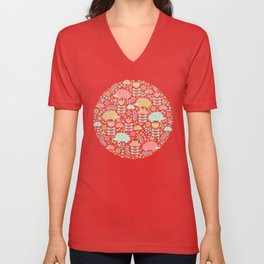 Spring Hedgehog Forest Unisex V-Neck