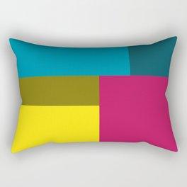 Color Block Rectangular Pillow