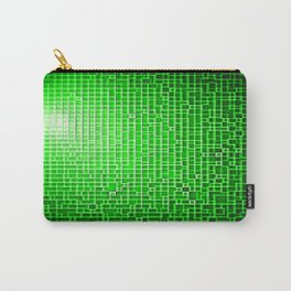 Green Pixels Carry-All Pouch
