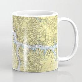 Norfolk VA, Porstmouth VA & Elizabeth River Map Coffee Mug