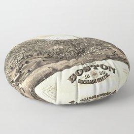 View of Boston, Massachusetts (1880) Floor Pillow