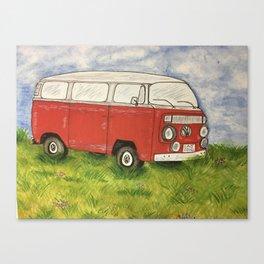 Lukes red van Canvas Print
