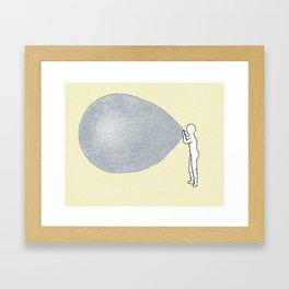 Universe-ballon Framed Art Print