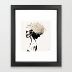 Serene - Digital fashion illustration / painting Framed Art Print