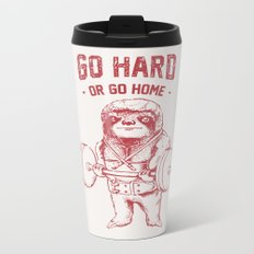 Go Hard or Go Home Sloth Metal Travel Mug