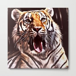 Painted Tiger 9 Metal Print