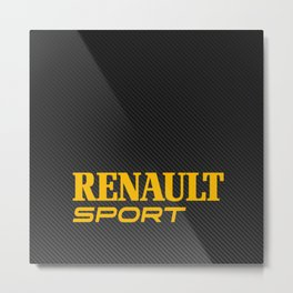 Renault Sport Carbon Metal Print
