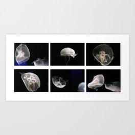 deep sea jellyfish Art Print