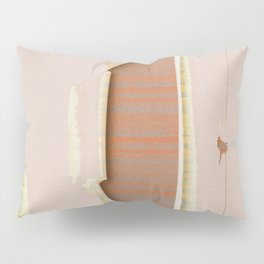 Scratched Wall Retro Glitch Boho Texture Print Pillow Sham