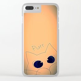 cat-85 Clear iPhone Case