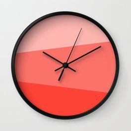 Living Coral Simple Stripes Wall Clock