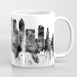 Tampa Florida Skyline BW Coffee Mug