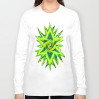 rasta Long Sleeve T-shirts featuring RASTA STAR by EclecticArtistACS