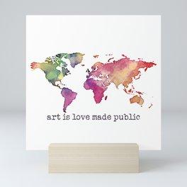 art is love made public Mini Art Print