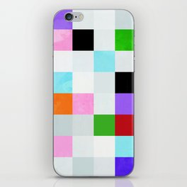 chequers modern cool iPhone Skin