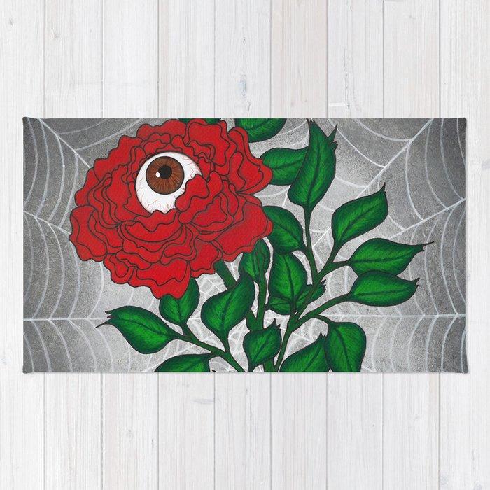 Caught -Eyeball Flower Rug