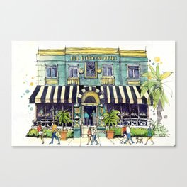 The Georgian Hotel Canvas Print