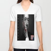 frank underwood V-neck T-shirts featuring frank underwood. by azyxz