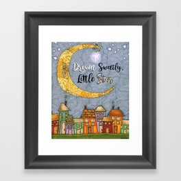 Dream Sweetly, Little Star Framed Art Print