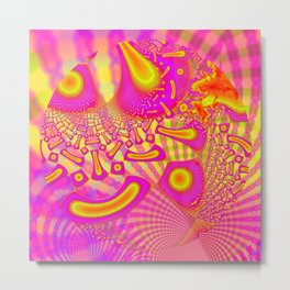 LollyPoP 3D Fused Glass Fractal Metal Print
