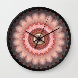 Mandala Teenage Girl Wall Clock