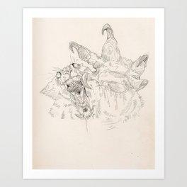 ARGARGARGLEBLARAAG Art Print