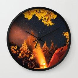 Moto Camping Wall Clock