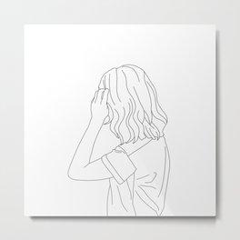 Fashion illustration line drawing - Cain Metal Print