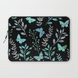 Watercolor flowers & butterflies IV Laptop Sleeve