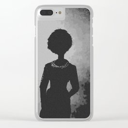 Smoke Shadows and Pearls Clear iPhone Case