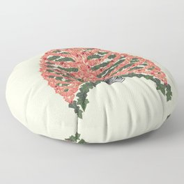 Floral ribcage Floor Pillow