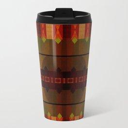 """Full Colors Tribal Pattern"" Travel Mug"