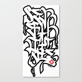 Severity One Caligraphy Canvas Print