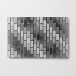 BRICK WALL #2 (Grays) Metal Print