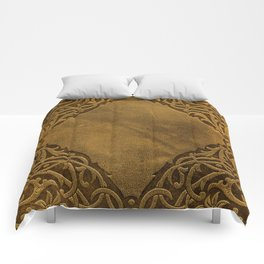 Vintage Ornamental Book Cover Comforters