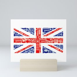 Great Britain Landmark Flag Mini Art Print
