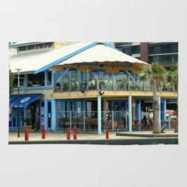 The blue Restaurant Rug