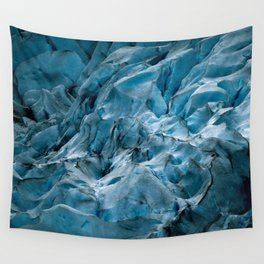 Blue Ice Glacier in Norway - Landscape Photography Wall Tapestry