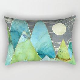 Moonlit Mountains Rectangular Pillow