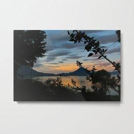 Lago Atitlan at Sunrise Metal Print