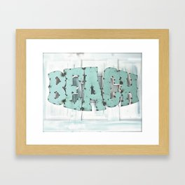 Rustic Beach Framed Art Print