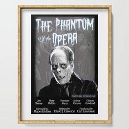 Opera Phantom 1925 Classic Horror Movie Fan Art Poster - Public Domain - Darkling Designs Inc 0008WHBG Serving Tray