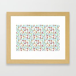 Out in The Garden Pattern Framed Art Print