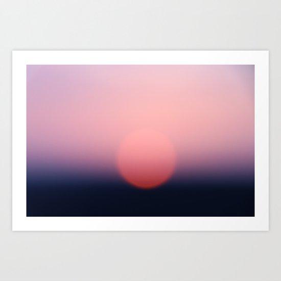 blurry sundown Art Print