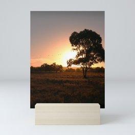 Evening Golden Landscape Mini Art Print