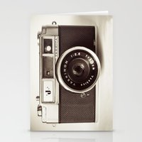 vintage camera Stationery Cards featuring Camera by Tuky Waingan