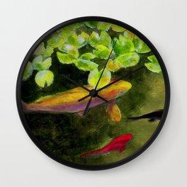 Small Koi Pond 14 Wall Clock